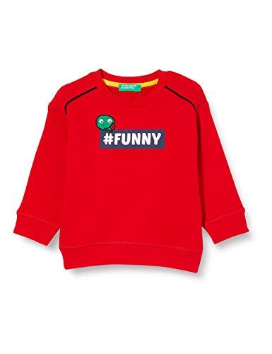 United Colors of Benetton (Z6ERJ Maglia G/c M/l Sudadera con Capucha, Red 015, 82 para Niños