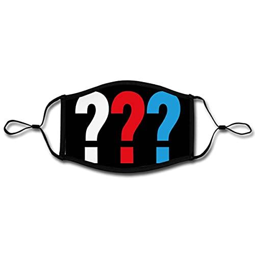 Spreadshirt Die Drei Fragezeichen Mund-Nasen-Bedeckung Verstellbar Groß, Weiß/Schwarz