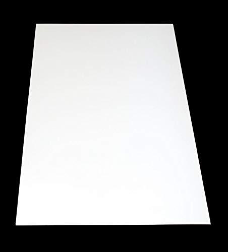 Placa de plástico ABS de color blanco, 1000 x 490 mm de grosor, 2 mm de grosor, lámina protectora por una cara