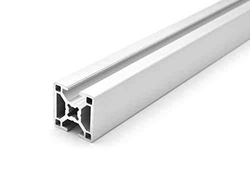 Designprofil - Aluminiumprofil 30x30 B-Typ Nut 8-2N 180 Grad - ZUSCHNITT bis 2000mm (11 EUR/m + 0,3 EUR pro Schnitt, min. 2,50 EUR) 400mm