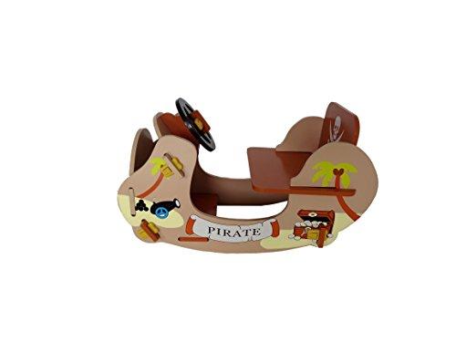 Kiddi Style Piraten Schaukelschiff & Schaukelboot – Jungen Schaukelspielzeug & Wellenschaukler Holzspielzeug - 2