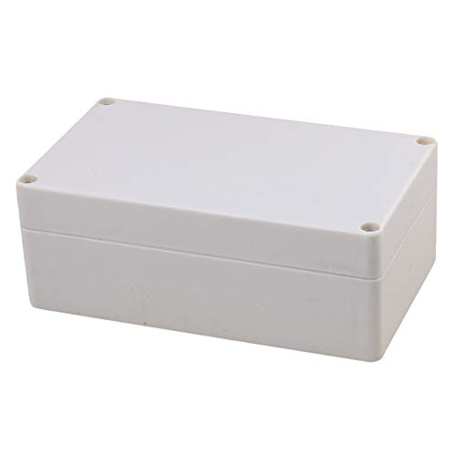 BQLZR 15.8x9x6cm Gris Blanco Plástico Impermeable Conector al Aire Libre Eléctrico Caja...