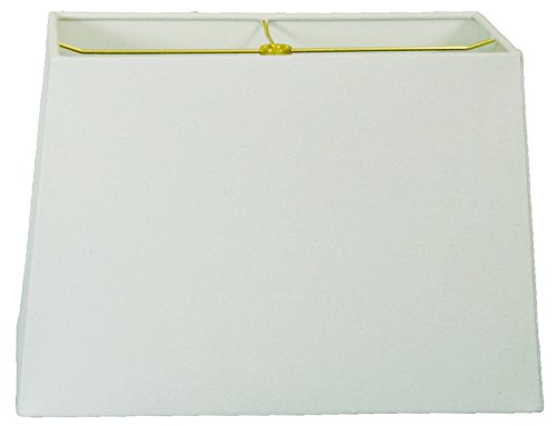 Royal Designs Lampenschirm, rechteckig, Hartschale, Linen White, (8x16) x (10x18) x 12