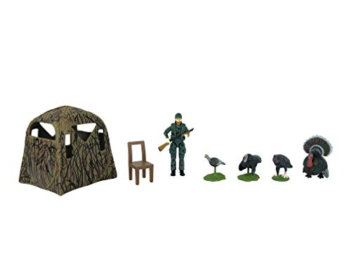 Big Country Toys Turkey Hunting Set - 1:20 Scale - Turkey Hunting - Toy Set - 8 Piece Toy Set - Plastic