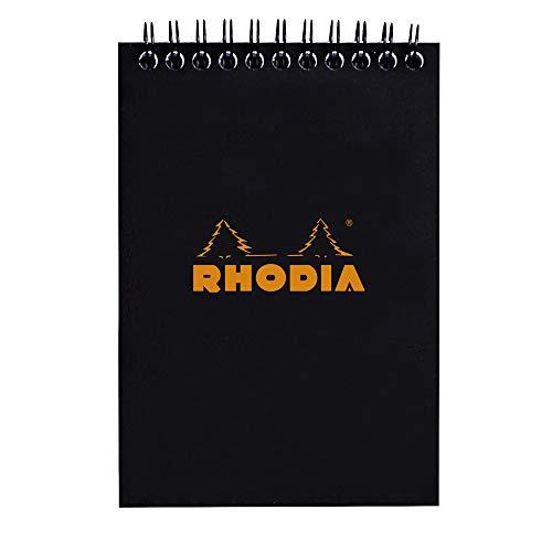 ロディア ノートパッド No.13 クラシック 方眼罫 ブラック cf135009 10.5x14.8cm (A6)