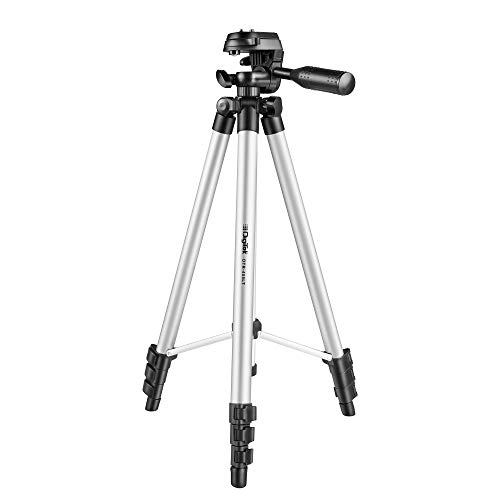 DIGITEK DTR 455 LT Tripod for DV Cameras and Smartphone | Max Operating Height - 4.26 Feet | Load Capacity-3 Kg | Lightweight & Sturdy Tripod with Adjustable 3 Way Pan Head (DTR 455 LT)