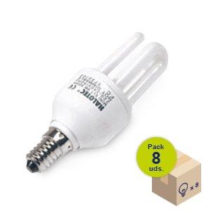 Pack von 8Leuchtmittel Energiesparlampe Mini ELT E14230V 11W 2700K
