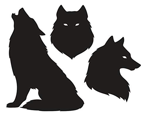 Aluffay Wolf Howling Diamond Painting Kits, Wolf Silhouettes Or Tattoo Pagan Totem Wiccan Familiar, 5D DIY Full Drill Diamond Painting, Diamond Art for Home Wall Decor Adults and Kids 12 x 16 inch