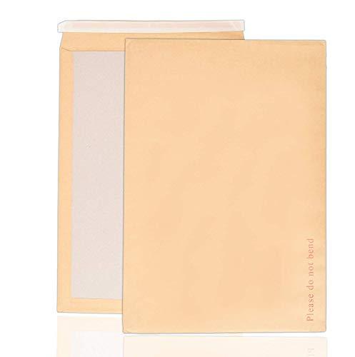 Arpan Lot de 50 enveloppes cartonnées rigides avec dos en carton manille Format A3 C3 457 x 324 mm