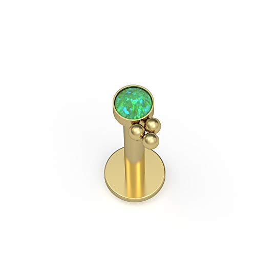 Monroe Stud Implant Grade Lip Jewelry Philtrum Labret Piercing Titanium Lip Ring CZ Medusa Jewelry Lip Labret Stud