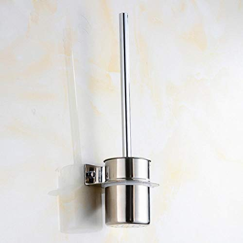 Hadristrasek Cepillo de baño Cuarto De Baño De Acero Inoxidable 304 Escobillero Astilla Productos De Baño Portaescobillas De Tocador Pulimento Cepillo de baño