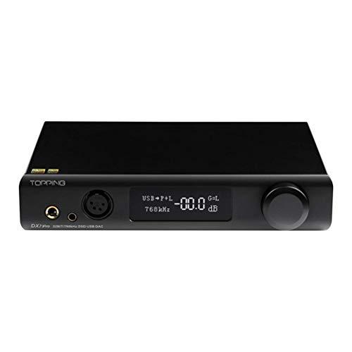 TOPPING DX7 Pro ES9038PRO DAC Amplificatore Per Cuffie 32bit/768kHz DSD1024 XMOS XU208 Bluetooth 5.0 LDAC Hi-Res Audio Dac AMP (Nero)