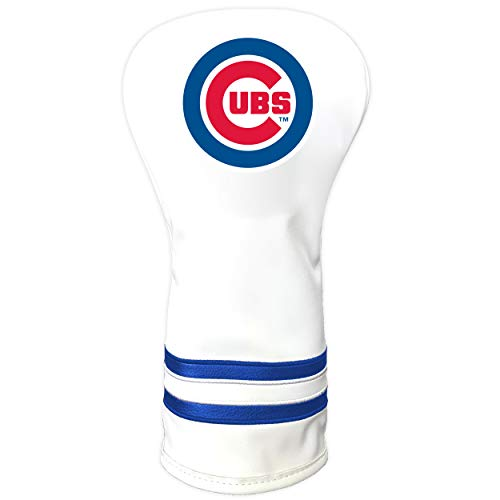 Team Golf MLB Chicago Cubs White Vintage Driver Golf Club Headcover, Form Fitting Design, Retro Design & Superb Quality, Multi Team Color, One Size (95421)