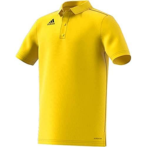 adidas CORE18 Polo Shirt, Yellow, 1314 Unisex-Child