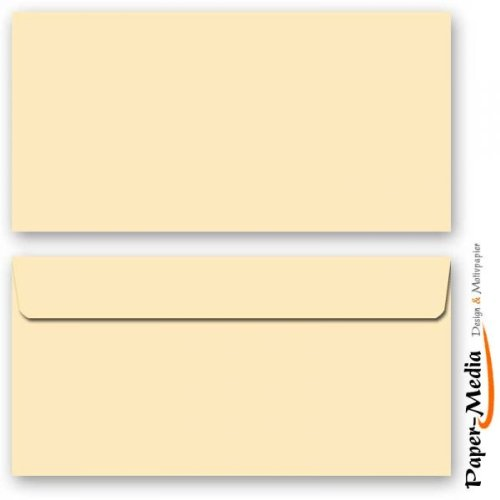 Farbige-Briefumschläge FARBE 123, 10 DIN LANG (110x220 mm) Briefumschläge ohne Fenster, Selbstklebend mit Abziehstreifen
