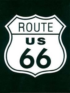 signs-unique Ruta 66Shield Acero imán para Nevera (de)