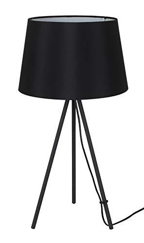 Solight Tischlampe Milano Tripod, Lampenstativ, 56 cm, E27, schwarz Stahl 60 W, Large