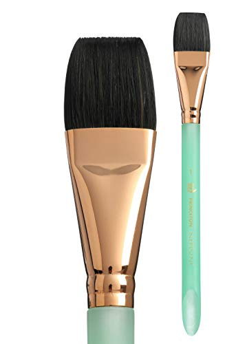 Princeton Artist Brush, Neptune Series 4750, Synthetic Squirrel Watercolor Paint Brush, Aquarelle, Size 1 Inch