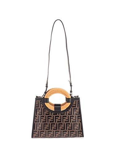 Luxury Fashion | Fendi Dames 8BH353A652F0H3C Bruin Leer Handtassen | Seizoen Permanent