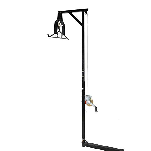 T-Foot Hitch-Mounted Big Game Hunting Deer Hoist with Winch Lift Gambrel 500lb Capacity