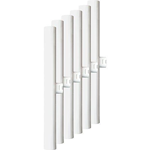 MÜLLER-LICHT 400132 A, 6er-SET HD-LED Linienlampe ersetzt 28 W, Plastik, S14d, weiß, 30 x 3 x 3 cm
