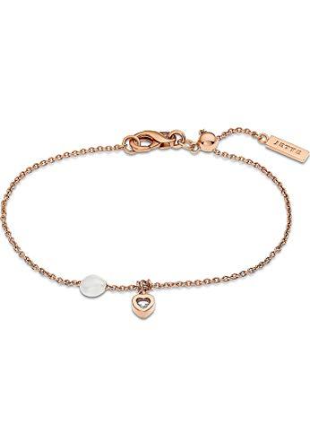 JETTE Silver Damen-Armband 925er Silber 1 Zirkonia One Size Roségold 32011607