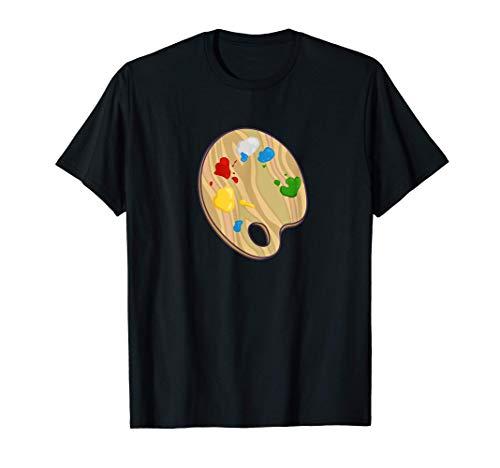 Pintor Artista Paleta de Pintura Disfrazada Camiseta