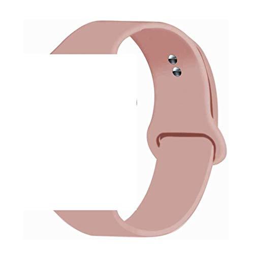 MMOO Correa De Silicona Deportiva Correa para Apple Watch Band 5 4 3 2 Accesorios 38Mm 42Mm Correa Pulsera para Iwatch 5 Bandas 44Mm 40Mm Correas De Reloj, Vintage Rose, 42Mm 44Mm Ml