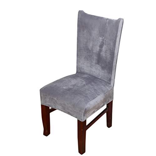 Sperrins Dining Chair Covers, feste wasserdichte und ölbeständige Stretch Dining Chair Cover Grey