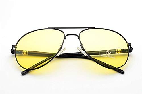 BLANCHE MICHELLE Sonnenbrille Pilot polarisiert Damen Herren Unisex BM209 schwarz/gelb