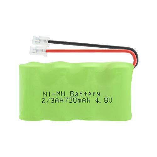 Pacco Batteria 4.8v 700mah 2/3aa Ni-MH, Pacco Batteria Ricaricabile Universale Universal