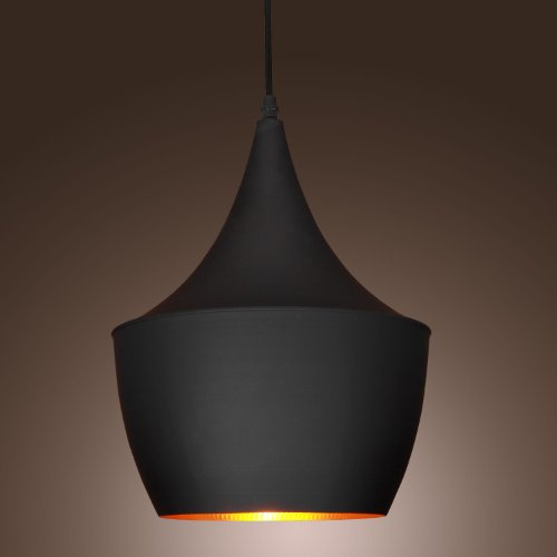 60W Pendant Light in Black Shade Modern/Comtemporary Pendant Light Fit for Li...