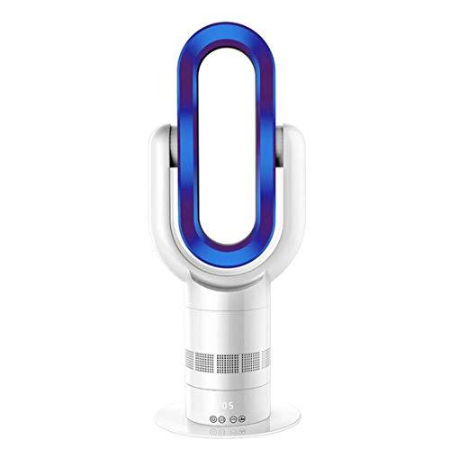 GJX Ultralichte ventilator, zonder bladeren, verticale ventilator met warme lucht, ABS, energiebesparend, kleur: wit blauw