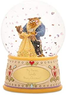 Things Remembered Personalized Jim Shore Beauty and The Beast Snow Globe with Engraving Included