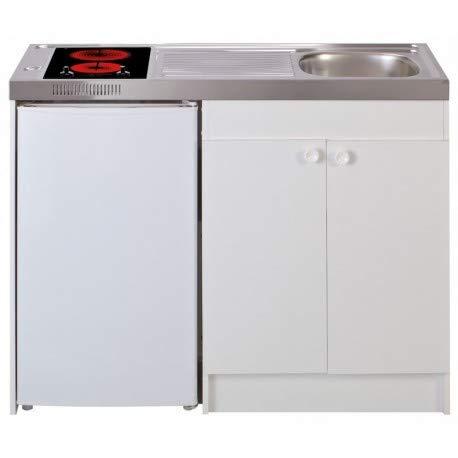 Mezieres – Spüle Küche + Domino Vitro Breite 120 cm mit Kühlschrank DF114