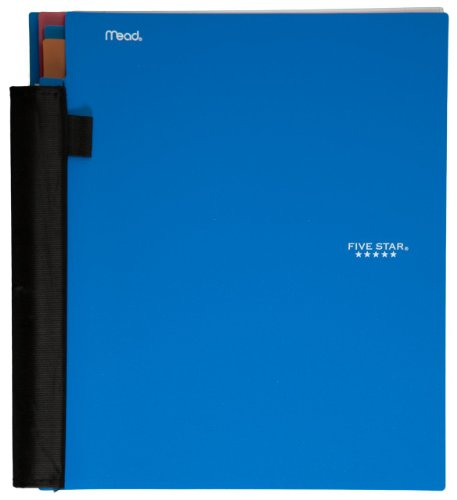 Five Star Advance Spiral Notebook, 3-Subject, 150 College-Ruled Sheets, 11 x 8.5 Inch Sheet Size, Blue (72809)