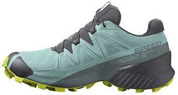 Salomon Women's Speedcross 5 GTX Trail Running Shoe (Pastel Turquoise/Ebony/Evening Primrose, Numeric_8_Point_5)