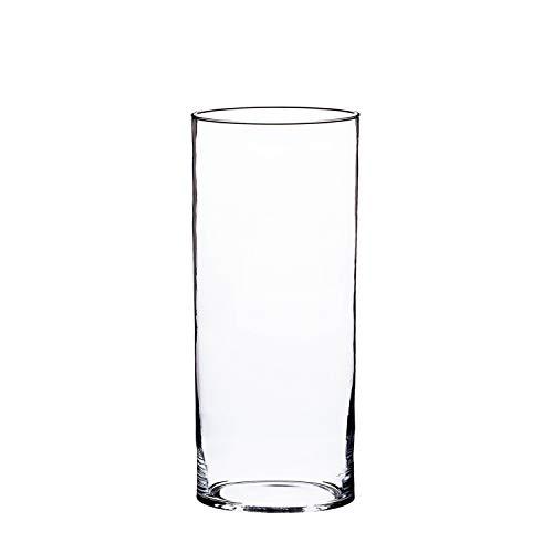 INNA-Glas Vase en Verre cylindrique Sansa, Transparent, 40cm, Ø 19cm - Vase décoratif - Grand Vase Transparent