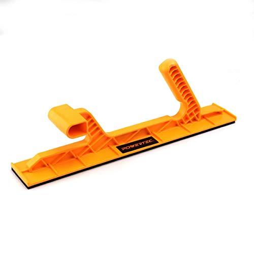 POWERTEC 71451 Deluxe Table Saw Push Block   Dual Ergonomic Handles w/Max Grip – 1 Pack