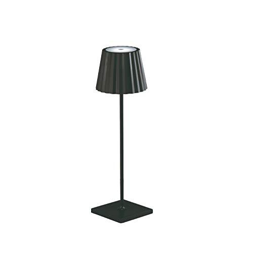 Akku LED-Tischlampe für drinnen und draußen, dimmbare Gartentisch Outdoor Leuchte, Touch Switch, Lampe Garten Außenbereich, 4400 mAh Lithium Akkubetrieb 9 Stunden (schwarz)