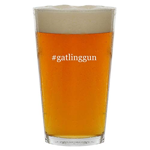 #gatlinggun - 16oz Hashtag Clear Glass Beer Pint Glass