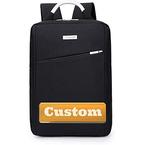 Borsa personalizzata di nome personalizzata Girls 11.6 Zaino sottile per uomo Laptop uomo da 13 pollici Borsa (Color : Black, Size : One size)