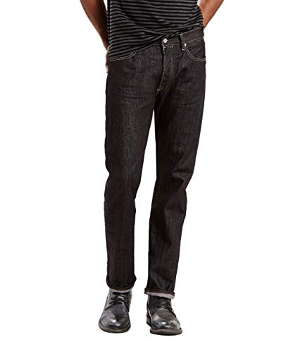 Levi's 501 Original Straight Fit Jeans, Nero (Iconic Black), 32 W/30 L Homme