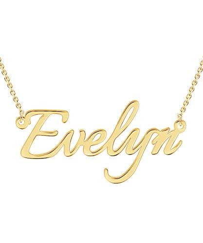 MeMoShe Name benutzerdefinierte Halskette, personalisierte 925 Sterling Silber Halskette, zierliche Schmuck Geschenk für Mutter Freundin