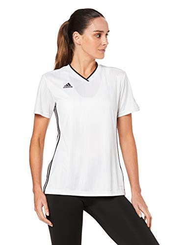 adidas Tiro 19 JSY W Camiseta de Manga Corta, Mujer, White/Black, M