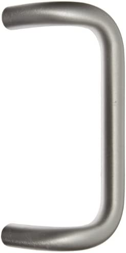 Rockwood BF157A 28 Aluminum 90 Degree Offset Door Pull 1 Diameter x 9 Center to Center Through product image