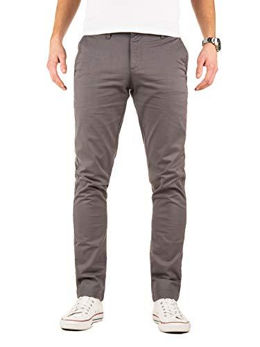 Yazubi Chino Herren Hosen - Modell Kyle by Yzb Jeans - Graue Stoffhose Chinohose für Männer mit Stretch, Grau (Magnet 4R193901), W31/L30