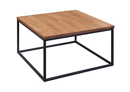 Table Basse carrée - Bois Massif de chêne Sauvage huilé (Bois Naturel) - VILLANDERS #502