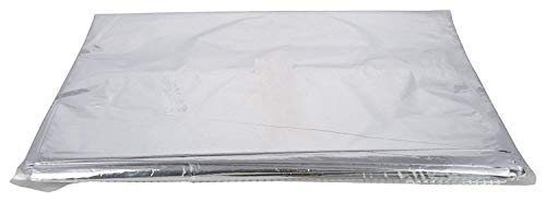 "KRUM Aluminium Silver foil Plastic Pouches Bags for Food Packaging 500gm (6""×8""), Pack of 100"