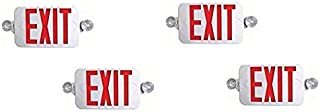Ciata Lighting All LED Decorative Red Exit Sign & Emergency Light Combo with Battery Backup (4 Pack)